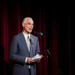 Balog Zoltán, az emberi erőforrások minisztere köszöntőt mond Tolnay Klári színművész születésének 100. évfordulója alkalmából meghirdetett emlékév megnyitóján, az Uránia Nemzeti Filmszínházban 2014. január 23-án. MTI Fotó: Mohai Balázs