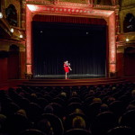 Sinóros-Szabó Botond és Fülöp Nóra táncművészek előadása Tolnay Klári színművész születésének 100. évfordulója alkalmából meghirdetett emlékév megnyitóján, az Uránia Nemzeti Filmszínházban 2014. január 23-án. MTI Fotó: Mohai Balázs