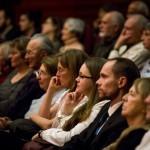 Érdeklődők Tolnay Klári színművész születésének 100. évfordulója alkalmából meghirdetett emlékév megnyitóján, az Uránia Nemzeti Filmszínházban 2014. január 23-án. MTI Fotó: Mohai Balázs