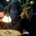 Bodrogi Gyula, a Nemzet Színésze címmel kitüntetett Kossuth- és kétszeres Jászai Mari-díjas színművész a Mafilm felújított Róna utcai III-IV-es műtermének megnyitóján Budapesten 2014. január 30-án. A stúdió hét hónap alatt, 52 millió forintból újult meg. MTI Fotó: Kallos Bea