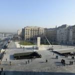 A megújult Kossuth tér 2014. március 14-én. MTI Fotó: Soós Lajos