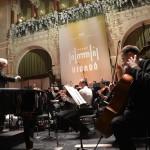 A Budapesti Filharmóniai Társaság Zenekara Medveczky Ádám vezényletével próbát tart a felújított Pesti Vigadóban, amelynek átadási ünnepségét 2014. március 14-én este tartják. MTI Fotó: Kovács Tamás