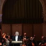 Fekete György, a Magyar Művészeti Akadémia elnöke beszédet mond a felújított Pesti Vigadó avatásán 2014. március 14-én. MTI Fotó: Kovács Tamás