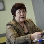 Pálffy Ilona, a Nemzeti Választási Iroda elnöke sajtótájékoztatót tart Budapesten, az ANY Biztonsági Nyomdában, ahol megkezdtél az országgyűlési választás szavazólapjainak nyomtatását 2014. március 20-án. MTI Fotó: Kovács Tamás