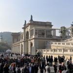 A felújított Várkert Bazár a rekonstrukció I. ütemének ünnepélyes átadása előtt 2014. április 3-án. MTI Fotó: Koszticsák Szilárd