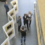 Szabó László Zsolt, a Médiaszolgáltatás-támogató és Vagyonkezelő Alap (MTVA) megbízott vezérigazgatója (j2) és Gazsó L. Ferenc, a Magyar Távirati Iroda vezérigazgatója (j) - miután megnyitották - megtekintik az MTVA/MTI két fotóriporterének, Beliczay Lászlónak és Illyés Tibornak (j3) a kiállítását az MTVA óbudai székházának Aula Galériájában 2014. április 8-án. A közmédia fotóriportereinek képei a kijevi zavargások és a szocsi téli olimpia emlékezetes pillanatait örökítik meg. MTI Fotó: Koszticsák Szilárd
