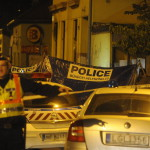 Bűnügyi helyszínelők Budapesten, a IV. kerületi Pozsonyi utcában, ahol női holttestet találtak 2014. április 28-án. A nő halálának okát orvosszakértői vizsgálat tisztázza majd. MTI Fotó: Mihádák Zoltán