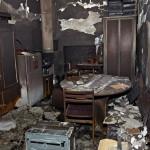 A megyei adminisztráció egyik megrongált irodája a kelet-ukrajnai Harkivban 2014. április 8-án, az Ukrajnától való elszakadását követelő oroszbarát aktivisták eltávolítása után.  (MTI/EPA/Vologyimir Petrov)
