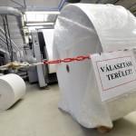 Nyomtatják a szavazólapokat a május 25-ei európai parlamenti választásra a budapesti ANY Biztonsági Nyomdában 2014. május 7-én. MTI Fotó: Máthé Zoltán