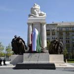Tisza István újjáépített szobra Budapesten a Kossuth téren 2014. június 9-én. MTI Fotó: Beliczay László