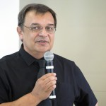 Pacher Tibor, a Puli Space alapítója és csapatvezetője a világ egyik legjelentősebb technológiai versenyének, a Google Lunar XPRIZE-nak a sajtótájékoztatóján a budapesti Design Terminálban 2014. június 3-án. MTI Fotó: Mohai Balázs