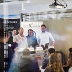 Andrew Barton, az XPRIZE Alapítvány elnöke (j3) beszél a világ egyik legjelentősebb technológiai versenyének, a Google Lunar XPRIZE-nak a sajtótájékoztatóján a budapesti Design Terminálban 2014. június 3-án. Mellette Joel Carnes, az XPRIZE Alapítvány alelnöke (b), Pacher Tibor, a Puli Space alapítója és csapatvezetője (j2) és Böszörményi-Nagy Gergely, a Design Terminál főigazgatója (j). MTI Fotó: Mohai Balázs