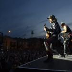 A német Scorpions együttes a Szabadságkoncerten, a budapesti Hősök terén 2014. június 16-án, a Nagy Imre és mártírtársai 1989-es újratemetésének emléknapján, a rendszerváltoztatás 25. évfordulóján. A zenekar az ingyenes koncerten az Omega együttessel lépett fel.MTI Fotó: Kovács Tamás