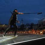 Klaus Meine, a német Scorpions együttes énekese a Szabadságkoncerten, a budapesti Hősök terén 2014. június 16-án, a Nagy Imre és mártírtársai 1989-es újratemetésének emléknapján, a rendszerváltoztatás 25. évfordulóján. A zenekar az ingyenes koncerten az Omega együttessel lépett fel.MTI Fotó: Kovács Tamás