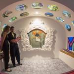 Érdeklődők a 14. Velencei Nemzetközi Építészeti Biennále orosz pavilonjában a Giardino kertben 2014. június 6-án. MTI Fotó: Kallos Bea