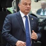 Brüsszel, 2014. június 27.  Orbán Viktor magyar miniszterelnök érkezik az EU-országok állam-, illetve kormányfőinek csúcstalálkozójára Brüsszelben 2014. június 27-én, a találkozó második napján. (MTI/EPA/Stephanie Lecocq)
