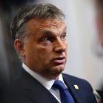Brüsszel, 2014. június 27.  Orbán Viktor magyar miniszterelnök az EU-országok állam-, illetve kormányfőinek csúcstalálkozója után Brüsszelben 2014. június 27-én, a találkozó második napján. (MTI/EPA/Julien Warnand)
