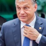 Brüsszel, 2014. június 27.  Orbán Viktor magyar miniszterelnök érkezik az EU-országok állam-, illetve kormányfőinek csúcstalálkozójára Brüsszelben 2014. június 27-én, a találkozó második napján. (MTI/AP/Geert Vanden Wijngaert)