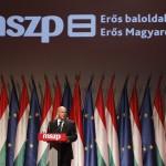 Tóbiás József, az egyedüli elnökjelölt beszél az MSZP rendkívüli tisztújító kongresszusán, a budapesti Syma Rendezvénycsarnokban 2014. július 19-én. A küldöttek új elnököt és vezető tisztségviselőket választanak. MTI Fotó: Szigetváry Zsolt