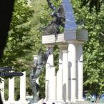 A német megszállás áldozatainak emlékműve a budapesti Szabadság téren 2014. július 20-án. MTI Fotó: Bruzák Noémi