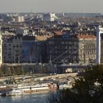 Az Erzsébet híd 2014. november 19-én. Ötven éve, 1964. november 21-én adták át a II. világháború alatt megsemmisült, majd újjáépített hidat a közforgalomnak. MTI Fotó: Szigetváry Zsolt