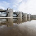 A Szamos-Kraszna-közi árvízszint-csökkentő tározó Tunyogmatolcs határában 2014. november 7-én, az átadása napján.MTI Fotó: Balázs Attila