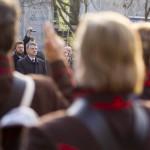 Kövér László, az Országgyűlés elnöke (b3) a Zalai 47. Honvédzászlóalj Hagyományőrző Egyesület eskütételén és zászlószentelésén Zalaegerszegen 2014. november 22-én. MTI Fotó: Varga György