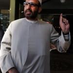 2011. április 18-án Sydneyben készített kép Man Haron Monisz szexuális bűncslekménnyel gyanúsított iráni menekültről és muzulmán hitszónokról, akit a Sydney egyik kávézójában 2014. december 15-én végrehajtott túszejtés fegyveres elkövetőjeként azonosítottak. (MTI/EPA/Dean Lewins)