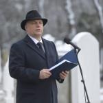 Orbán Viktor miniszterelnök beszédet mond a Kozma utcai zsidó temető első világháborús hősi parcellájának felújítása alkalmából tartott megemlékezésen 2015. január 26-án. MTI Fotó: Koszticsák Szilárd