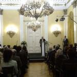 Balog Zoltán, az emberi erőforrások minisztere beszédet mond a magyar kultúra napján rendezett ünnepségen a Petőfi Irodalmi Múzeumban 2015. január 22-én. MTI Fotó: Bruzák Noémi