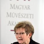 Juhász Judit, a Magyar Művészeti Akadémia szóvivője a 150 éves Vigadó ünnepi programsorozatát ismertető sajtóbeszélgetésen a Pesti Vigadóban 2015. január 9-én. MTI Fotó: Kovács Attila