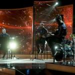 Az online akusztik szavazás győztese, a Leander Rising együttes az Eurovíziós Dalfesztivál A Dal című magyar válogatóversenyének döntőjében az MTVA Kunigunda útjai gyártóbázisán 2015. február 28-án este. Csemer Boglárka Boggie és a Wars For Nothing című dal képviseli Magyarországot a májusi bécsi 60. Eurovíziós Dalfesztiválon május 19. és 23. között. MTI Fotó: Koszticsák Szilárd