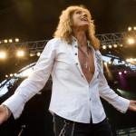 David Coverdale, a brit hard rock zenekar, a Whitesnake énekese ad koncertet a Petőfi Csarnokban 2011. július 13-án. MTI Fotó: Kollányi Péter