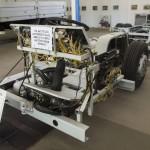 Csepel 633.14 típusú városi autóbusz alváza az ÁTI-Sziget Kft. által működtetett ipari parkban kialakított gyártmánymúzeumban Szigetszentmiklóson 2015. május 19-én. Az egykori Csepel Autógyár területén létrehozott múzeumban gépjárműveket, alkatrészeket, fényképeket és dokumentumokat láthat a közönség.MTI Fotó: Illyés Tibor