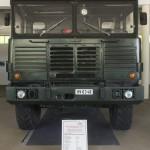Csepel D-566 típusú katonai tehergépkocsi az ÁTI-Sziget Kft. által működtetett ipari parkban kialakított gyártmánymúzeumban Szigetszentmiklóson 2015. május 19-én. Az egykori Csepel Autógyár területén létrehozott múzeumban gépjárműveket, alkatrészeket, fényképeket és dokumentumokat láthat a közönség.MTI Fotó: Illyés Tibor