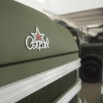 Csepel D-344 típusú teherautó emblémája az ÁTI-Sziget Kft. által működtetett ipari parkban kialakított gyártmánymúzeumban Szigetszentmiklóson 2015. május 19-én. Az egykori Csepel Autógyár területén létrehozott múzeumban gépjárműveket, alkatrészeket, fényképeket és dokumentumokat láthat a közönség.MTI Fotó: Illyés Tibor