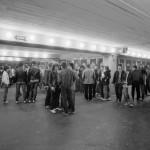 A Karthago együttes nyitókoncertjére várakozó a fiatalok a Városliget új szórakoztató központjában, a Petőfi Csarnokban Budapesten 1985. április 27-én. MTI Fotó: Friedmann Endre