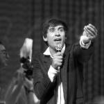 Gianni Morandi koncertet ad a Petőfi Csarnokban Budapesten, 1985. szeptember 20-án. A műsort a Magyar Televízió is rögzítette. MTI Fotó: Pintér Márta