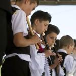 Helyi fúvószenekar játszik a második Duna-nap megnyitóján, az erdélyi Torockón 2015. június 6-án. MTI Fotó: Koszticsák Szilárd