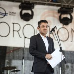 Potápi Árpád János nemzetpolitikáért felelős államtitkár beszédet mond a második Duna-nap megnyitóján, az erdélyi Torockón 2015. június 6-án. MTI Fotó: Koszticsák Szilárd