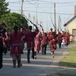 Ostormenet halad a Történelmi Magyarország Emlékpark avatóünnepségére Kétpón 2015.június 7-én. MTI Fotó: Mészáros János