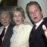 Diana, Kirk és Michael Douglas. Fotó: Rex Features