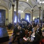 Lőcsei Tamás, a PwC Magyarország cégtársa beszél a PwC (Pricewaterhouse Coopers) könyvvizsgáló és üzleti tanácsadó cég régiós konferenciáján a Magyar Tudományos Akadémián 2015. november 19-én, ahol a közép- és kelet-európai országok áfacsalás-elleni közös fellépési lehetőségeit vitatják meg nemzetközi és hazai szakértők. MTI Fotó: Máthé Zoltán
