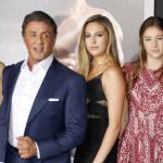 Sylvester Stallone és családja a Creed: Apollo fia premierjén. Fotó: Camera Press