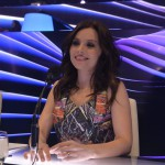 Zséda (Zsédenyi Adrienn) többszörös Fonogram-, eMeRTon- és Artisjus-díjas énekes, a zsűri tagja az Eurovíziós Dalfesztivál magyar versenye, A Dal 2016 című televíziós show-műsor második középdöntőjében a Médiaszolgáltatás-támogató és Vagyonkezelő Alap (MTVA) óbudai gyártóbázisán 2016. február 20-án. MTI Fotó: Koszticsák Szilárd