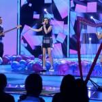 Nizalowski Dorottya (k) énekel a Passed együttessel az Eurovíziós Dalfesztivál magyar versenye, A Dal 2016 című televíziós show-műsor második középdöntőjében a Médiaszolgáltatás-támogató és Vagyonkezelő Alap (MTVA) óbudai gyártóbázisán 2016. február 20-án. MTI Fotó: Koszticsák Szilárd