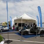 Látogatók A jövő autói című konferencia kiállításán a Budapesti Műszaki és Gazdaságtudományi Egyetem előtt 2016. május 19-én.<br /> MTI Fotó: Koszticsák Szilárd
