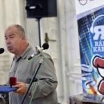 A Karinthy-gyűrű idei kitüntetettje, Szőke András humorista az elismerés átadásán a Magyar Rádió Márványtermében 2016. június 29-én.<br /> MTI Fotó: Máthé Zoltán