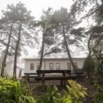 A Hármashatár-hegyi turistaház részlete a Guckler Károly-kilátóközpont és a turistaház ünnepélyes átadásán 2016. július 14-én.<br /> MTI Fotó: Mohai Balázs