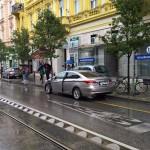 A balesetet szenvedett személyautó. Fotó: MTVA/Jerez J. Gyula
